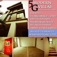 Elegant Metro Manila Properties: 5G MODERN VILLAS Townhouse for Sale in Mandaluyong... Makati, Manila, Villas, Townhouse, Building A House, The Unit, Elegant, Modern, Classy