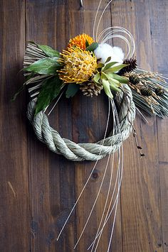 Oriental Flowers, New Years Decorations, Xmas Holidays, Mother And Child, Grapevine Wreath, Flower Arrangements, Christmas Diy, Diy And Crafts, Wedding Flowers