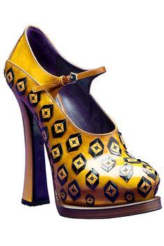 Prada - Women's Accessories - 2012 Fall-Winter -- fabulous art for your feet!