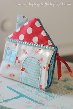 Mami por día Crafter por la noche: La casa de la cremallera de la bolsa