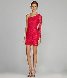 Hailey by Adrianna Papell OneShoulder Lace Dress #Dillards