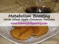 43 CALORIE Whole Wheat Apple Cinnamon Pancakes Recipe