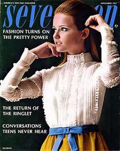 Cheryl Tiegs on the cover of Seventeenmagazine, November 1967.