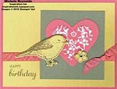Best Birds Heart Bird Birthday by Michelerey - Cards and Paper Crafts at Splitcoaststampers