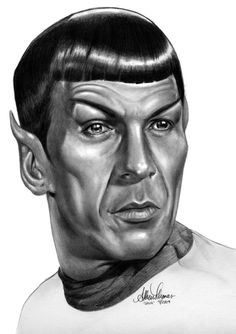 Humans Are So Illogical by AthenaTT on deviantART ~ Mr. Spock of Star Trek ~ actor Leonard Nimoy