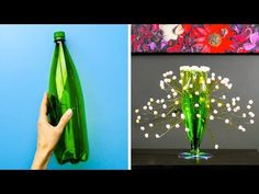 Timestamps: Lovely hair decor DIY broom from a plastic bottle Handmade phone charg Plastic Bottle Flowers, Plastic Bottle Crafts, Plastic Bottles, Plastic Plastic, Easy Diy Crafts, Recycled Crafts, Diy Crafts For Kids, Craft Ideas, Wall Hanging Crafts