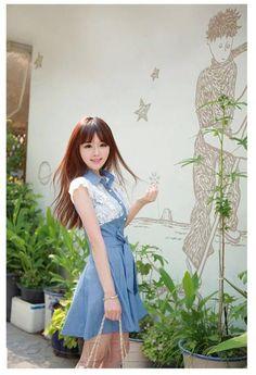 Smart Korean Style Slim Lace Lovely Skirt.