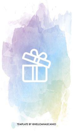 Instagram Logo, Instagram Design, Instagram Feed, Pastel Highlights, Story Highlights, Pastel Background, Watercolor Background, Instagram Story Template, Instagram Templates