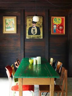 vintage/eclectic dining inspiration