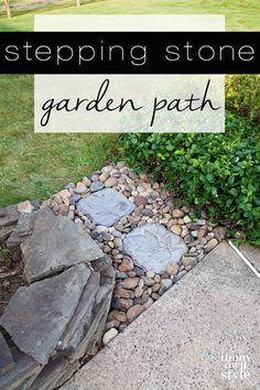If you want to make a path in a garden or even anywhere in your backyard and don't have the budget to hire a landscaper, try this easy DIY stone garden. No special skills or tools needed.