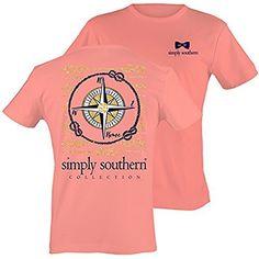 Simply Southern Women's Preppy Compass Melon