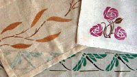How to paint designs on fabric (oh, for example, game boards on fabric....)