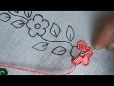 Easy Ribbon Embroidery Stitches although Hand Embroidery Stitches Tutorial For Beginners either Easy Basic Embroidery Stitches once Easy Embroidery Stitches For Beginners Hand Embroidery Videos, Hand Embroidery Flowers, Embroidery Stitches Tutorial, Flower Embroidery Designs, Creative Embroidery, Simple Embroidery, Embroidery Transfers, Silk Ribbon Embroidery, Hand Embroidery Patterns