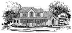 Farmhouse House Plan with 2231 Square Feet and 3 Bedrooms(s) from Dream Home Source | House Plan Code DHSW41466