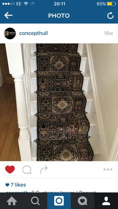 Traditional pattern Wilton stair carpet bespoke runner