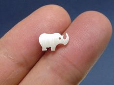 925 sterling silver rhino ear studs handmade by Sterling Silver Earrings Studs, Handmade Sterling Silver, Silver Jewelry, Small Earrings, Women's Earrings, Rhino Tattoo, Best Gifts For Men, Ear Studs, Cartilage Ring
