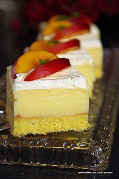 Ovocné krémové kocky Vanilla Cake, Cheesecake, Food And Drink, Desserts, Tailgate Desserts, Deserts, Cheesecakes, Postres, Dessert