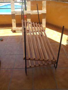 Antes Cabecero cama reciclado con maderas - Diyambo