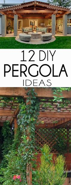 A pergola provides the perfect combination of style and function for your outdoor space. Check out these DIY Pergolas Tutorials for your next project!