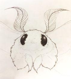 Cute Animal Drawings, Cute Drawings, Cute Moth, Moth Drawing, Character Art, Character Design, Book Art, Arte Obscura, Arte Sketchbook