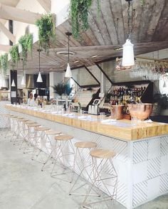 The prettier the bar, the prettier the drinks. @pursuitofshoes