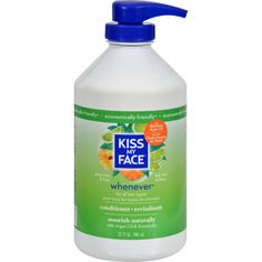 Kiss My Face Whenever Conditioner Green Tea and Lime - 32 fl oz - Kiss My Face Whenever Conditioner Green Tea and Lime Description: Economically Friendly Do What Comes Naturally Everyday Use Perfect For All Hair Types Leaves hair soft, shiny and wonderfully manageable with organic botanicals. Green tea and lime Enhanced daily nourishment for your hair Leaves hair tangle free No SLS, parabens or phthalates No animal ingredients or animal testing No artificial colors or fragrances No…