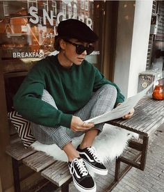 20 Edgy Fall Street Style 2018 Copy Outfits - Cool S .- 20 Edgy Fall Street Style 2018 Outfits zum Kopieren – Cool Style 20 Edgy Fall Street Style 2018 Outfits for Copy - Street Style Vintage, Parisian Style, Vintage Style, Parisian Fashion, Vintage Ideas, Street Style 2018, Autumn Street Style, Amsterdam Street Style, Amsterdam Fashion
