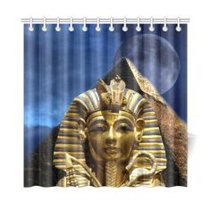 "King Tut and Pyramid Shower Curtain 72""x72"". FREE Shipping. FREE Returns."