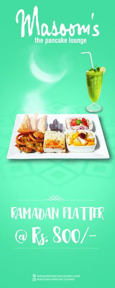 #Masoomspancakelounge #Ramadan #Platters
