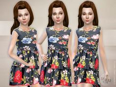 Floral Print Dress 2 Found in TSR Category 'sims 4 Female Child Everyday' Play Sims 4, Sims Free Play, My Sims, Sims Cc, Sims Resource, Sims 4 Cc Finds, Sims 4 Clothing, Sims Mods, Sims 4 Custom Content