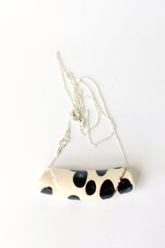 White ware and fireclay necklace