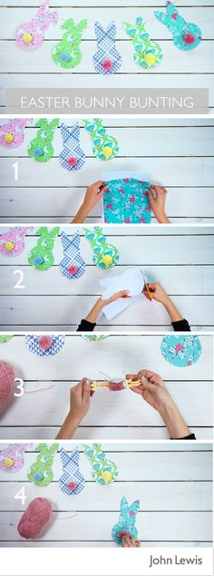 Add a homemade touch to your Easter decorating with our Bunny Bunting tutorial. Get creative with the kids with this easy craft activity that will brighten up your home and garden over Easter.