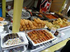 Street Food –  떡볶이, 만도, (Tteokbokki,  Mandu, etc)