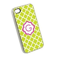 Quatrefoil iPhone 4/4S Case in Lime and Pink- LOVE!