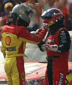 NASCAR fights--Kevin Harvick and Montoya!!