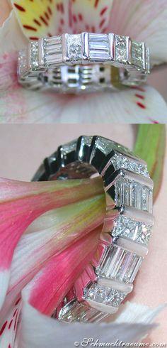 Fabulous Diamond Eternity Ring, 3,61 cts. G-SI. WG18K - Find out: schmucktraeume.com - Visit us on FB: https://www.facebook.com/pages/Noble-Juwelen/150871984924926