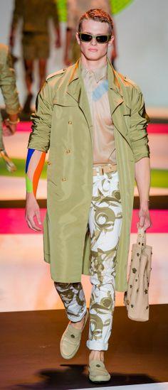 Цветные джинсы Versace весна лето 2014
