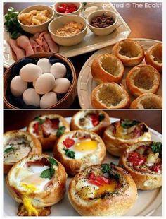 Stuffed breakfast rolls
