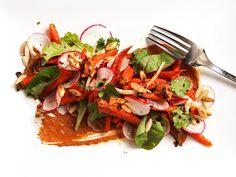 Roasted Carrot Salad with Peanut-Sesame Mole