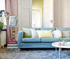 Pastellige Töne liegen im Trend. #homestory #home #interior #couch #furniture #designer #ikea #individuell
