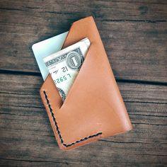 Handmade Minimalist Front Pocket Leather by MonolithLeatherGoods