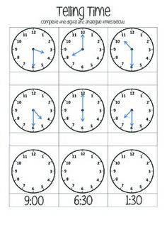 telling time with melissa mouse 6 in 2018 elementary education and montessori pinterest. Black Bedroom Furniture Sets. Home Design Ideas