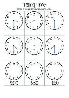 Telling time homework help