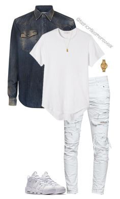 """""""Untitled #2762"""" by highfashionfiles on Polyvore featuring NIKE, Maison Margiela, Dsquared2, MNML, Versus, men's fashion and menswear"""