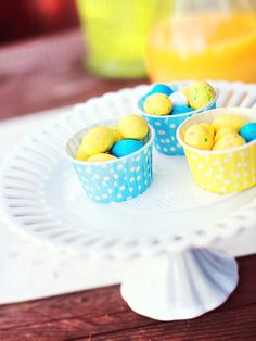 Sweet Treats for the Kids  - Charming Yellow and Blue Easter Brunch  on HGTV