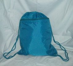 Teal Drawstring Cinch Sack Backpack School Tote Gym Sports Beach Travel Bag #WomenGymBags