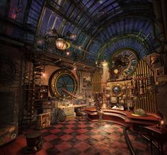 Steampunk Interieur Design Stil Und Deko Ideen Steampunk Interior Design Style And Decoration Ideas Steampunk Interior, Casa Steampunk, Design Steampunk, Steampunk Bedroom, Steampunk Kunst, Steampunk Fashion, Steampunk Furniture, Steampunk Gears, Steampunk City