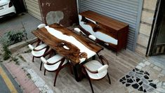 Epoxy Resin Table, Dining Room, Dining Table, Wood Creations, Wood Table, Custom Furniture, Wooden Boxes, Etsy, Room Set