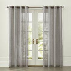 Light Grey Linen Sheer With Grommets