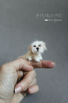 Ready to ship 1:12 Needle Felted miniature Dog-Wool by ArteAnRy